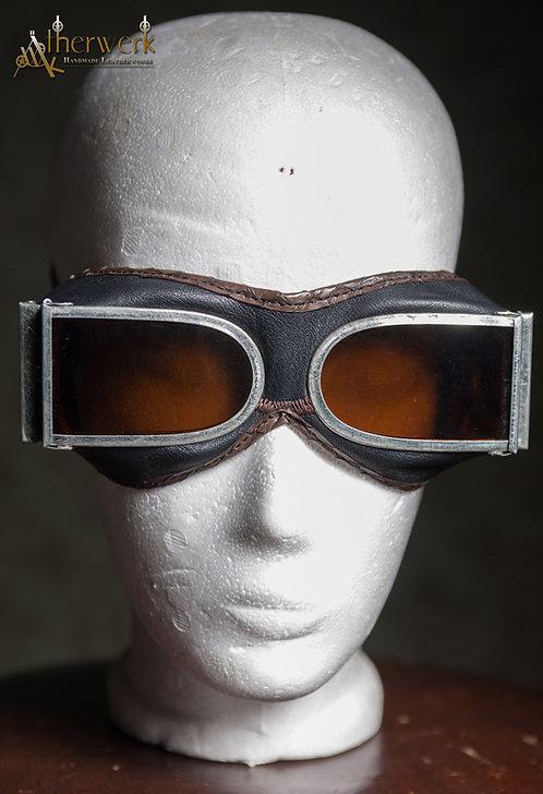 Fliegerbrille Leder / Aviator Glasses No.3