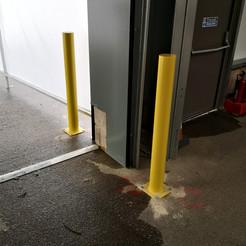Yellow Door Bollards