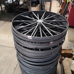 Steel display wheels