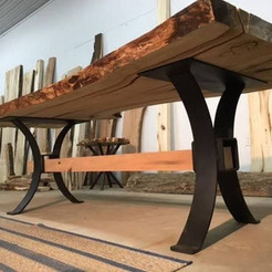 Contempory wood & metal table