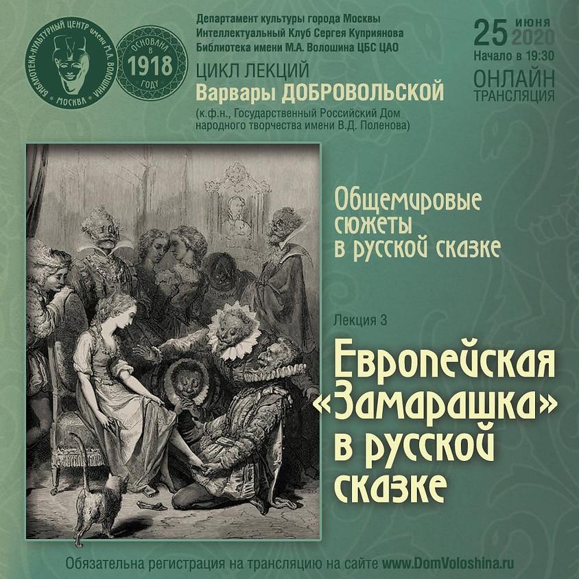Европейская Замарашка в русской сказке