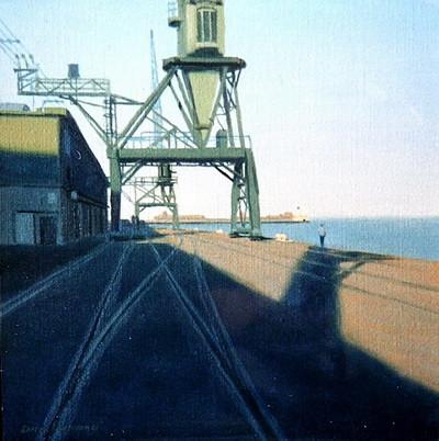 Vieilles grues dans le port du Havre