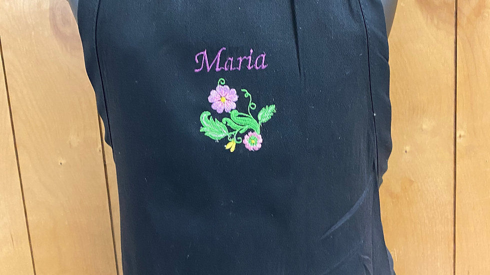 Customizable Embroidered Apron