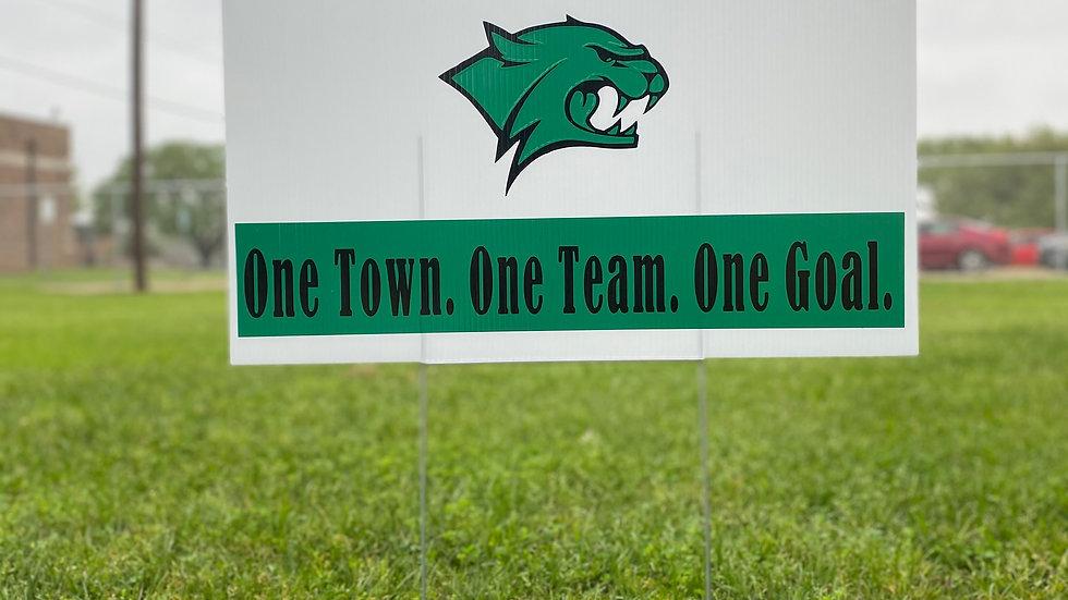 Bobcat One Team yard sign