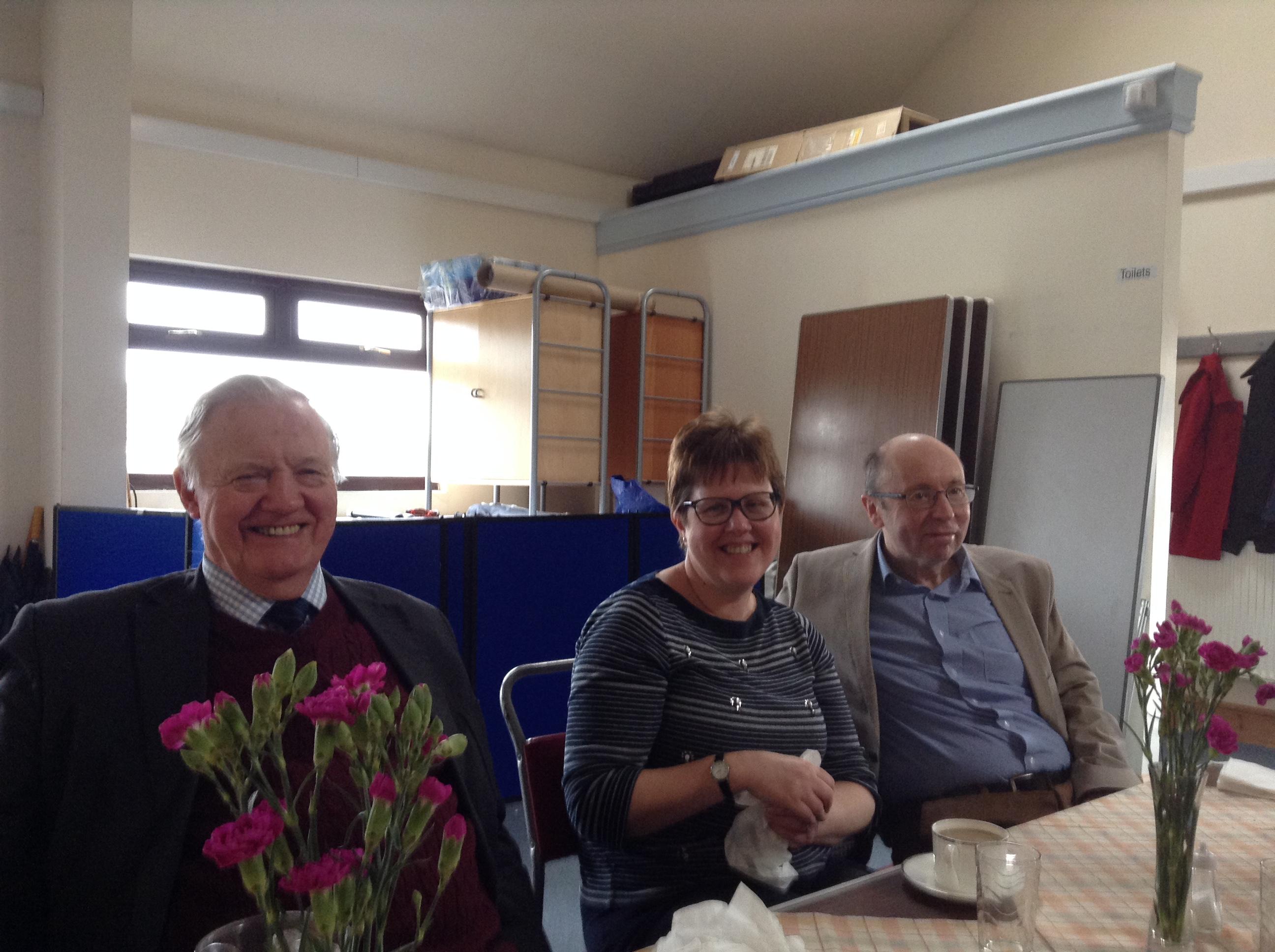 Richard, Clare and Tony