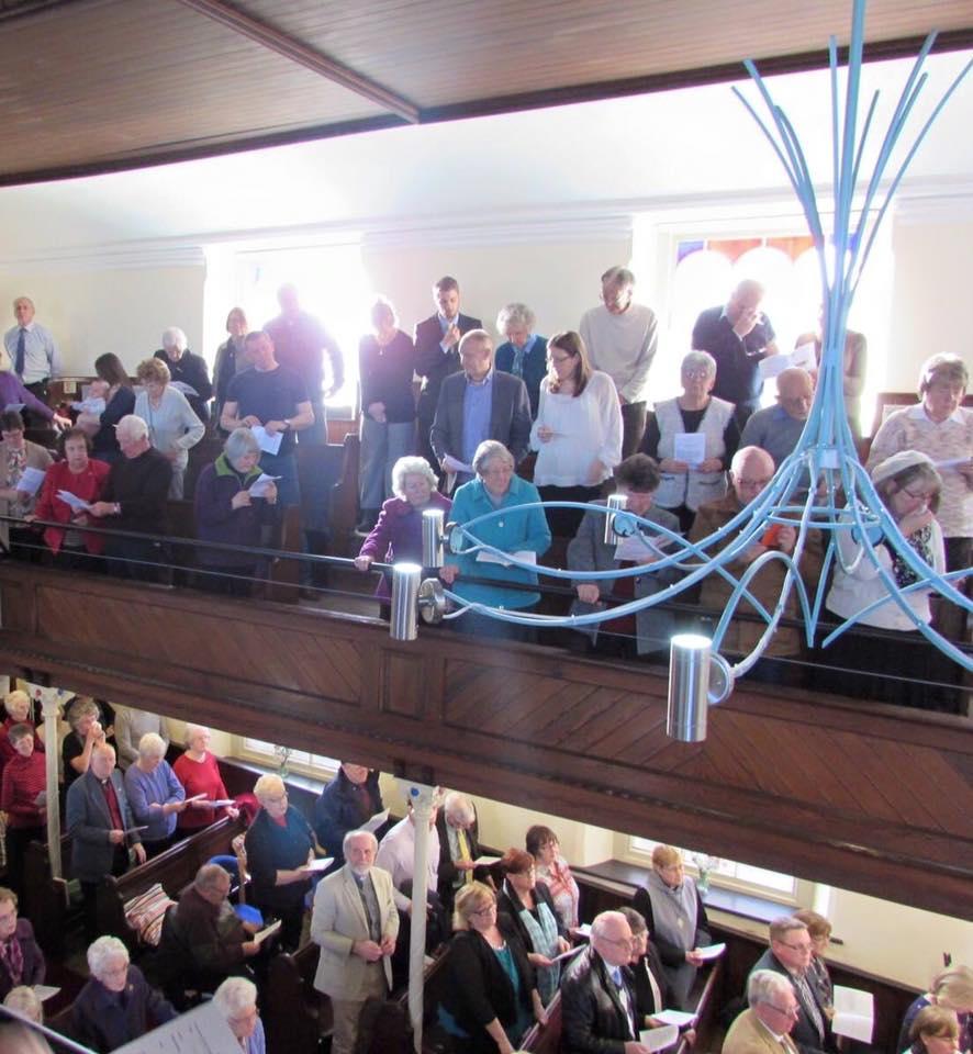 A packed church