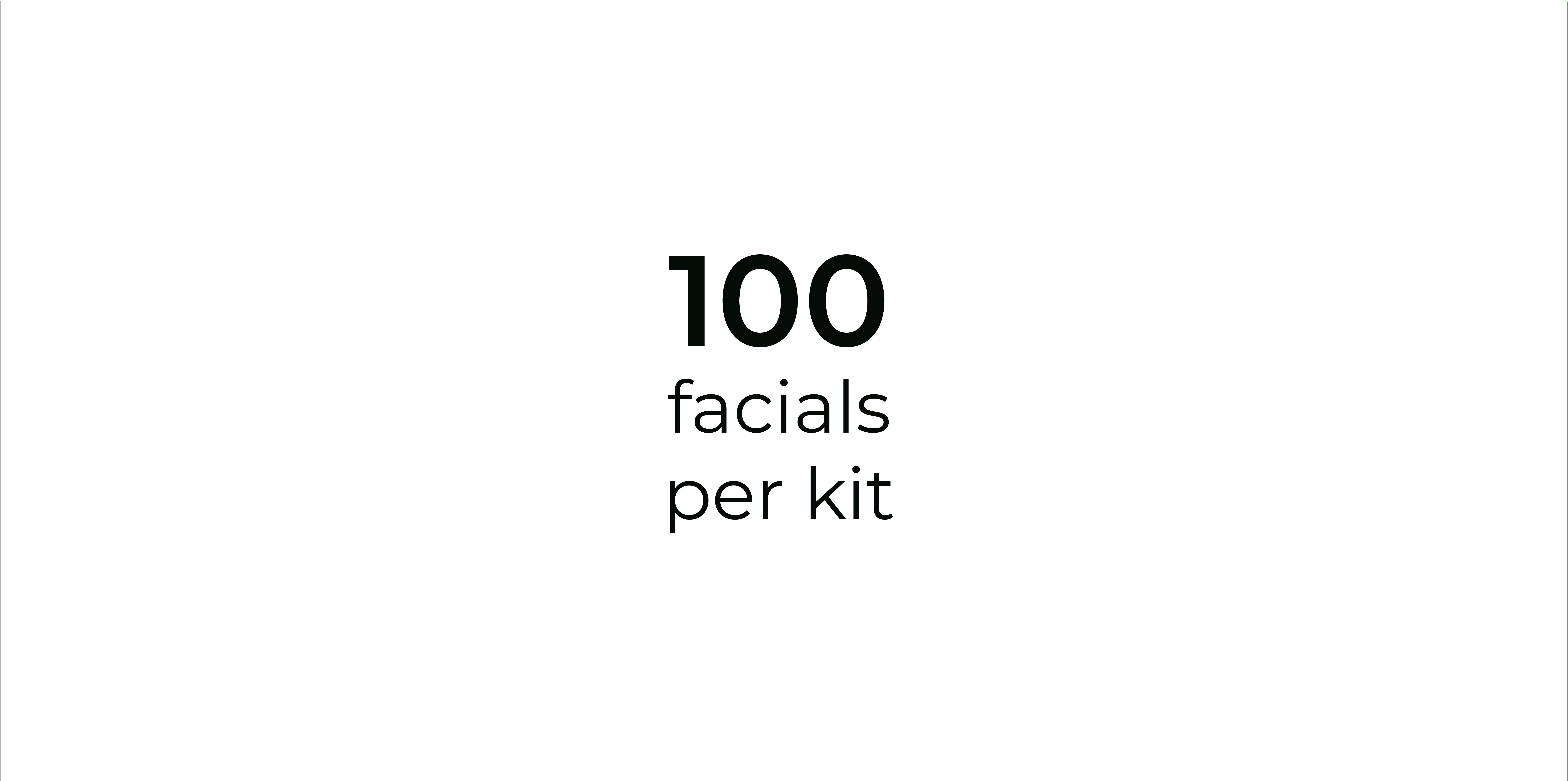 Facials Per Kit