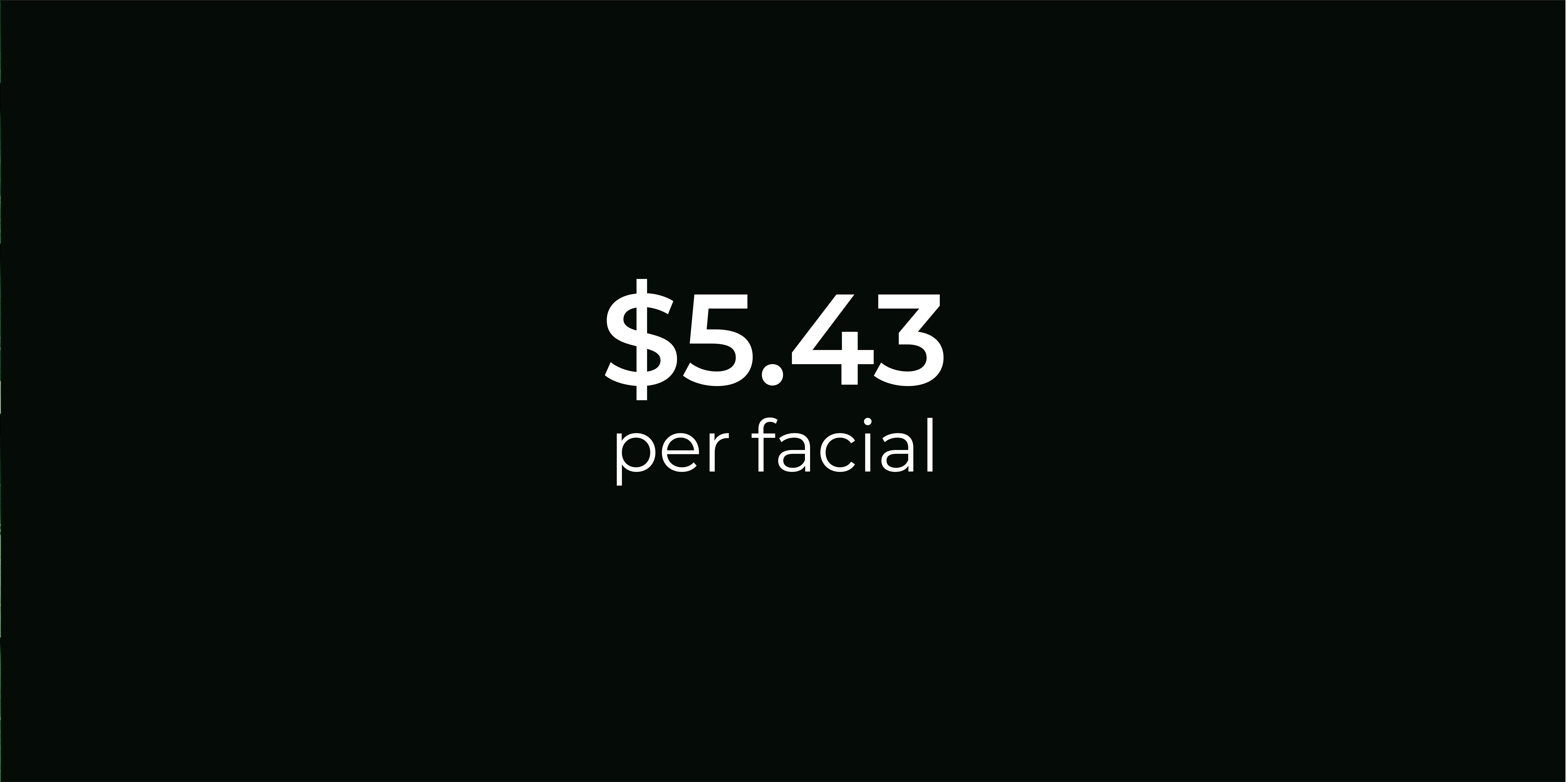 Cost Per Facial