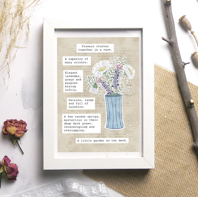 Desktop Garden Quote Print - Meadow Afte