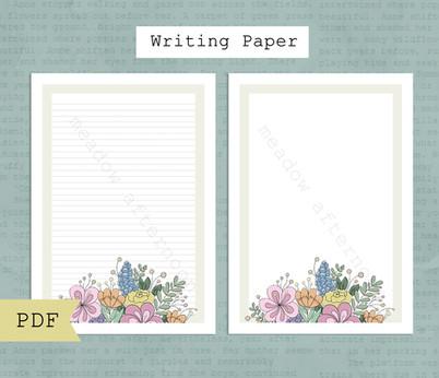 Flowers Writing Paper Etsy Listing Photo 1.jpg
