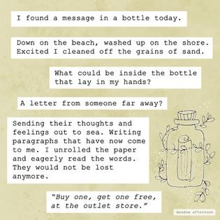 Message in A Bottle - Mini Paragraphs