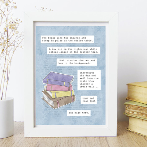 Books Quote Print - Meadow Afternoon