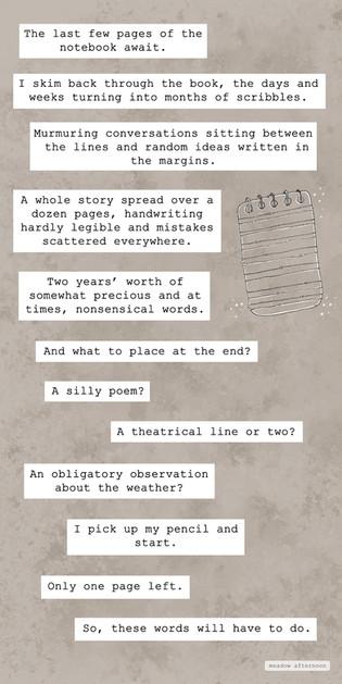 A Notebook - Mini Paragraph - Meadow A