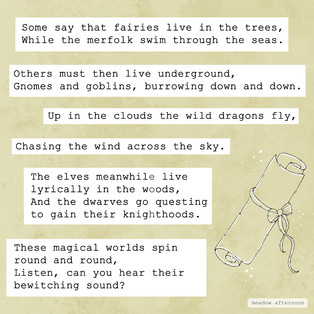 Magical Worlds - Mini Paragraph - Meadow Afternoon