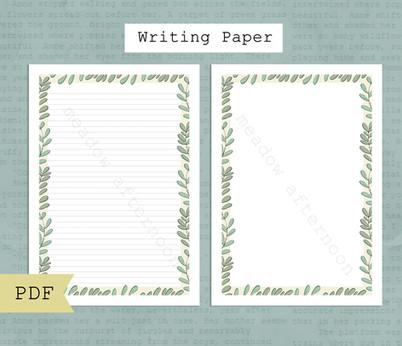 Leaves Writing Paper Etsy Listing Photo 1.jpg