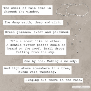Singing in the Rain - Mini Paragraph - Meadow Afternoon