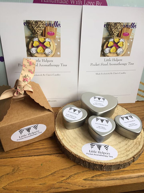 Set of 4  Little Helpers Pocket Aromatherapy Tins (not Candles)