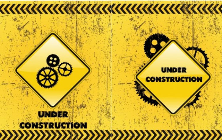Under Construction Backgrounds Vector Do