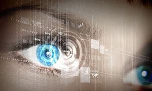 Image of eyes with circles representing hypnosis