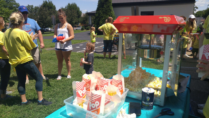 Popcorn, freezer pops. chips and cold drinks for everyone on Carnival Day