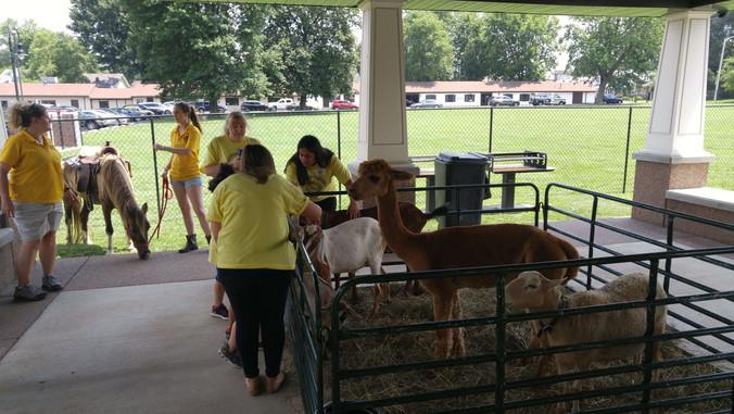 Petting zoo on Farm Day