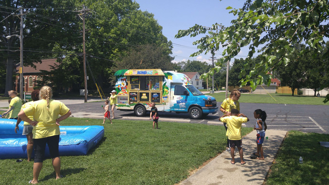 Kona Ice came and we all enjoyed a cold treat on a hot day