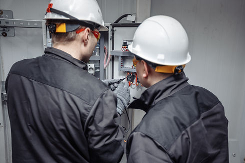 Engineer working on checking and mainten