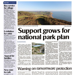 National Park Proposal featured in Bridport and Lyme Regis News
