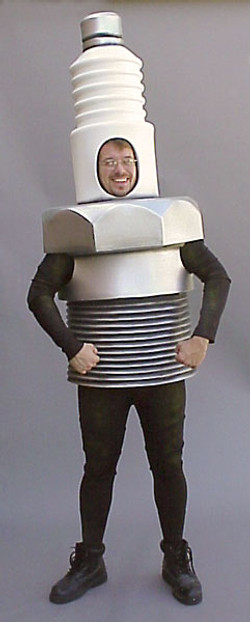 A Sparkplug costume