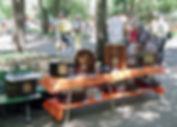 Feira de antiguidades na Praça Daltro Filho em Porto Alegre, Rio Grande do Sul