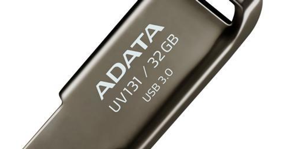 Memoria USB Adata UV131, 32GB, USB 3.0, Gris