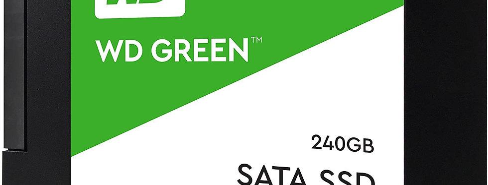"""UNIDAD DE ESTADO SOLIDO WESTERN DIGITAL GREEN 240GB 2.5"""" WDS240G2G0A"""