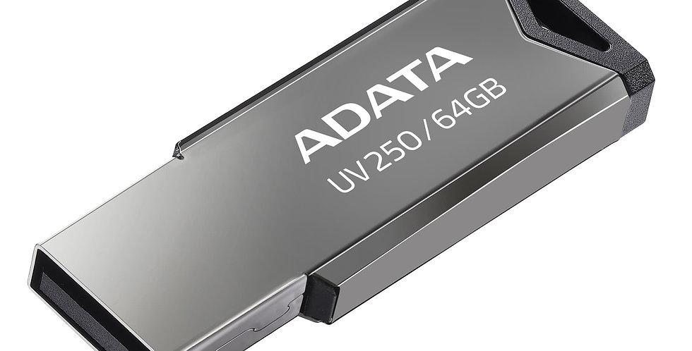 Memoria USB ADATA Uv131 - 64GB - USB 3.0 - Gris