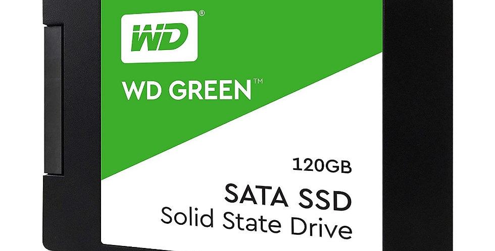 """UNIDAD DE ESTADO SOLIDO WESTERN DIGITAL GREEN 120GB 2.5"""" WDS120G2G0A"""