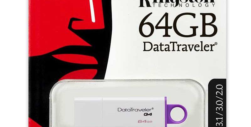 Usb data traveler g4 32 gb color blanco con rojo