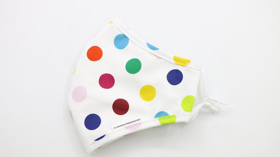 Adult Size Mask, Polka Dots