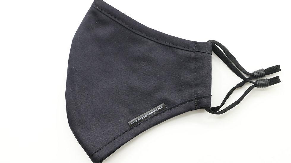 Adult Size Mask, Black Cotton