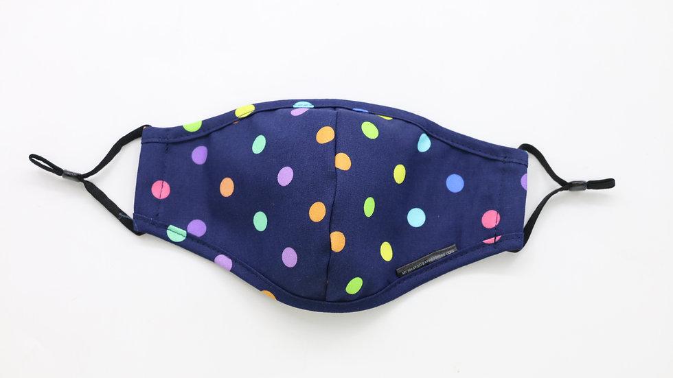 Kids Size Mask, Mini Polka Dots