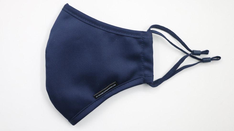 Adult Size Mask, Navy Blue Cotton
