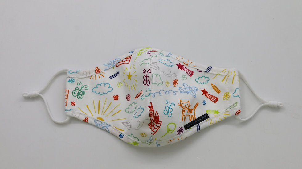 Kids Size Mask, Doodles