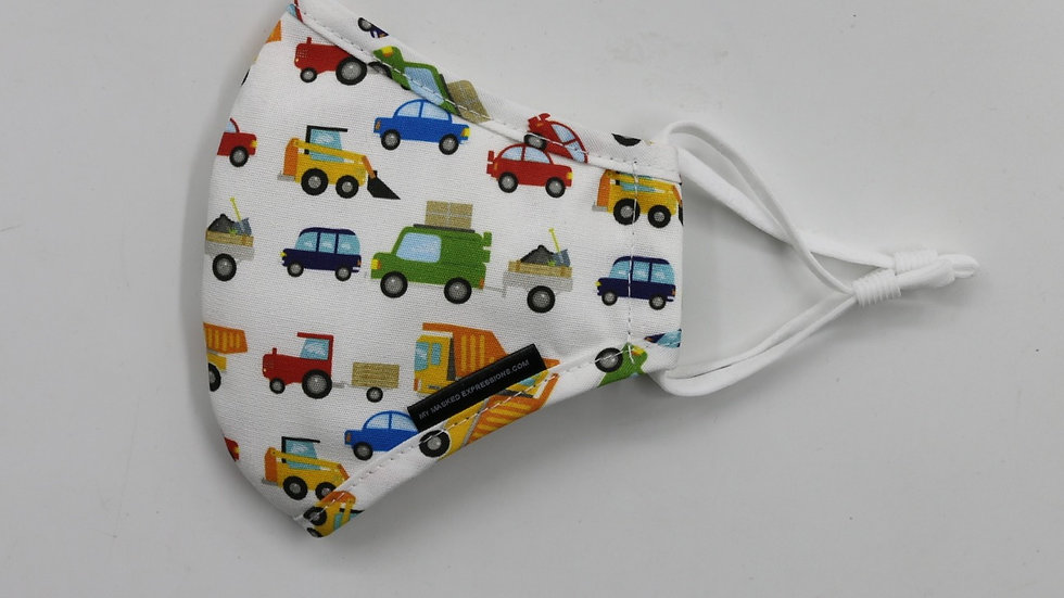 Kids Size Mask, Cars