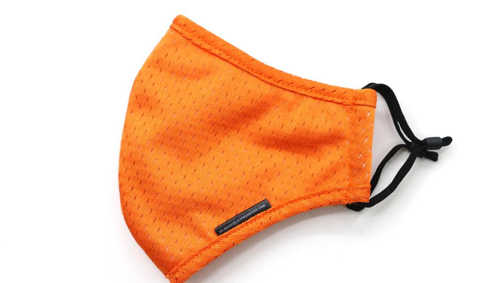 Adult Size Mask, Tangerine Orange Sport Mesh