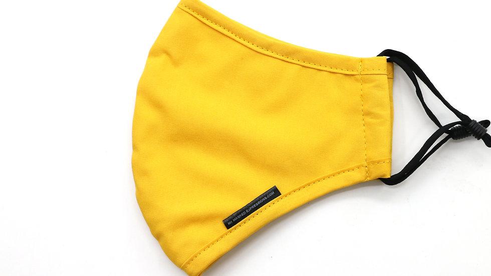 Adult Size Mask, Mustard Yellow Cotton Twill