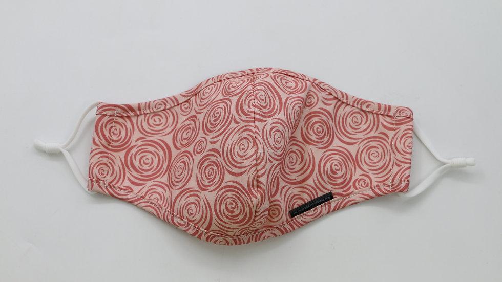 Adult Size Mask, Pink Rosebuds