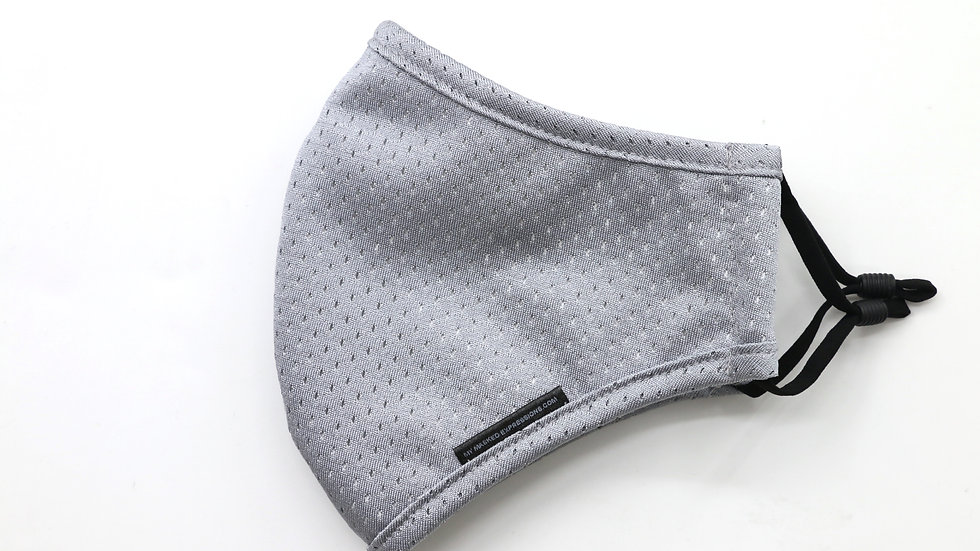 Adult Size Mask, Steel Grey Sport Mesh