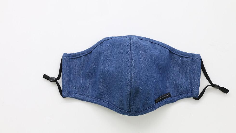 Adult Size Mask, Classic Blue Denim