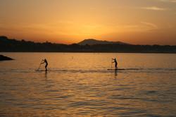 Paddle au coucher de soleil