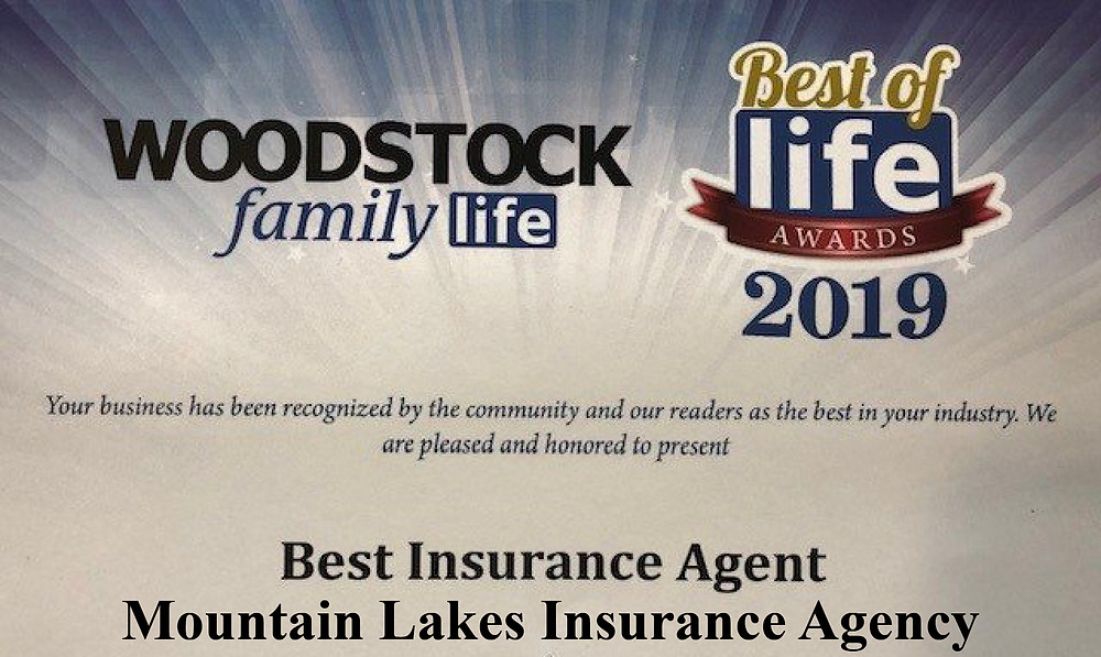 Mountain Lakes Insurance Best of Life Award