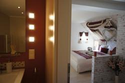 Ferienhaus Schlafzimmer mit Bad