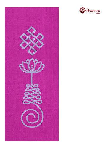 Tapete Yoga Rosa Estampa Unalome 1,73m - 4mm